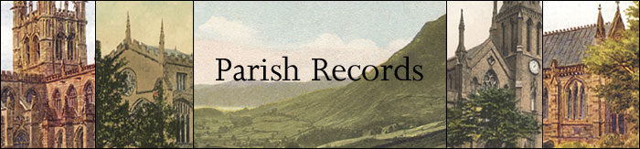 Parish Registers - Click to return to the Home Page